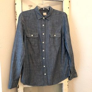 "J. Crew Chambrey ""The Perfect Shirt"" size Medium"